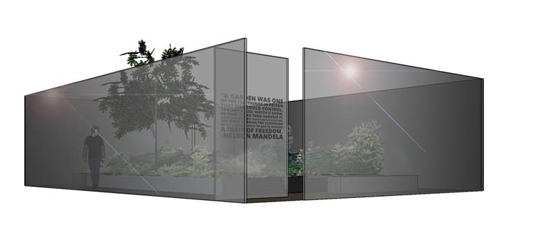 """""""Mandela's Garden"""", 2016, mit Katharina Lottner, 3. Platzierung bei Kunstwettbewerb für Nelson Mandela Denkmal der Stadt Nürnberg mit Katharina Lottner"""